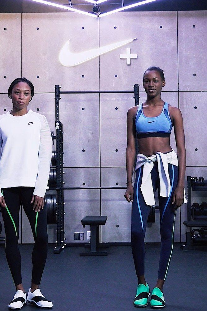 Watch What Happens When an Olympian Works Out with a Supermodel