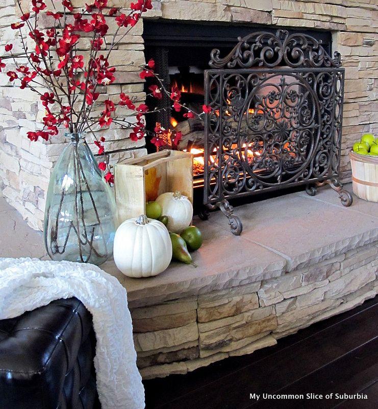 Fall Fireplace Mantels: Rustic Fall Mantel