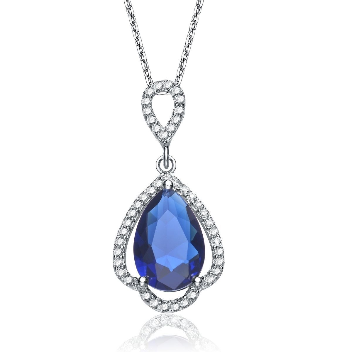 Collette z sterling silver blue and white cubic zirconia oval