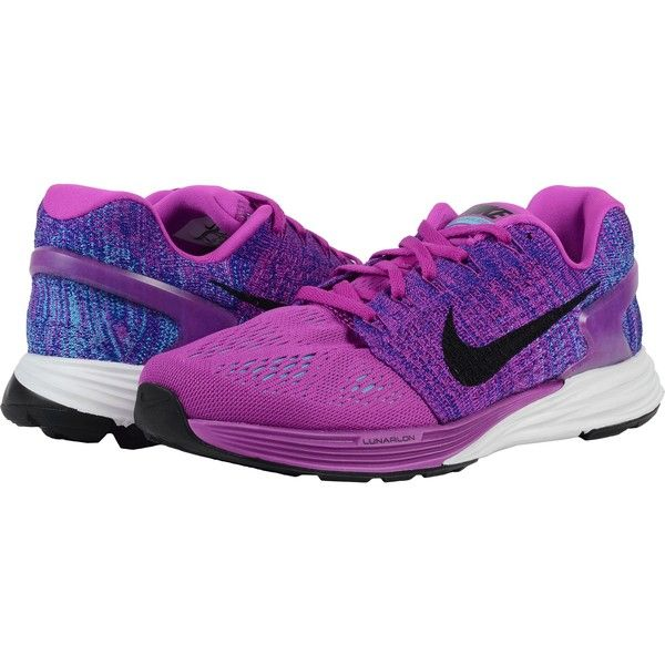 2c90cf2f911ec Nike Lunarglide 7 (Hyper Violet Concord Gamma Blue Black) Women s... ( 70)  ❤ liked on Polyvore featuring shoes
