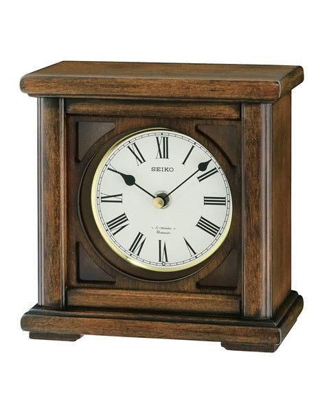 Seiko Wooden Desk Or Table Clock 12 Melodies Decorative Wooden