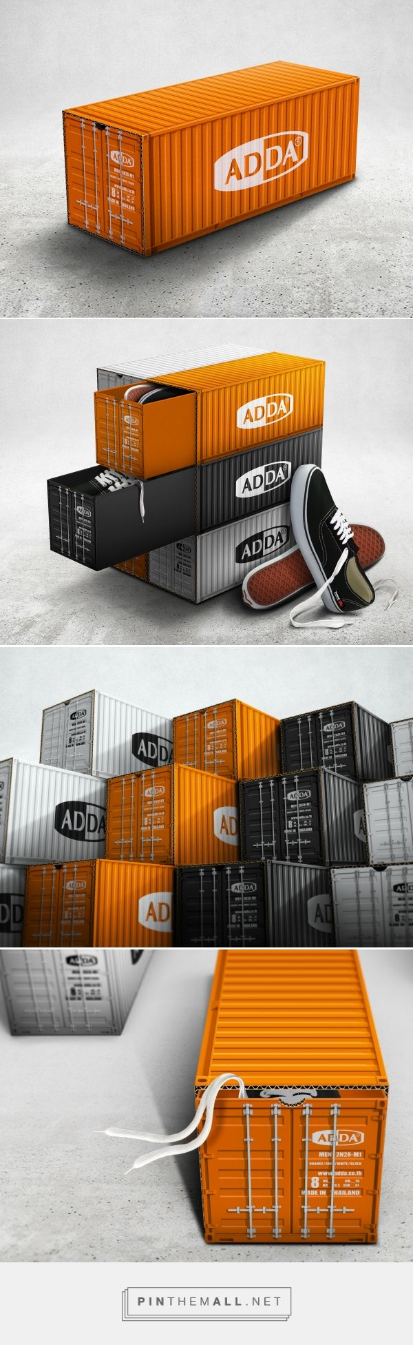 Adda Container Shoe Box packaging design by Prompt Design - http://www.packagingoftheworld.com/2017/07/adda-container-shoe-box.html