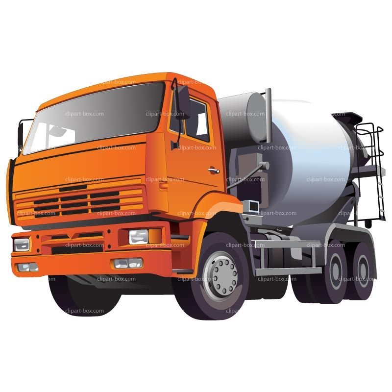 Clipart Concrete Mixer Truck Royalty Free Vector Design With Images Cement Truck Trucks