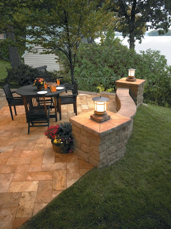 Define An Area In Your Landscape With A Retaining Wall Add Seating A Patio Or An Outdoor