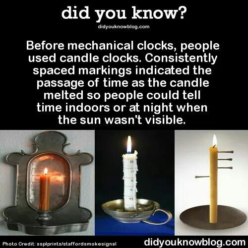 Candle clocks! | Mechanical clock, Candles, Country scents candles