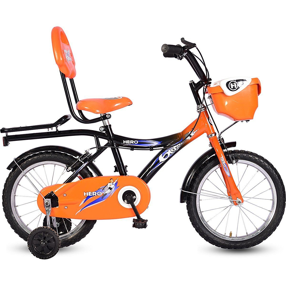 63ebf42c198 Best Baby Bicycle for 3 4 5 6 year old kids Hero Kid Zone Blaze 16T Junior  Cycle (Black Orange)