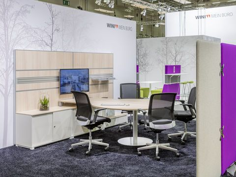 WINEA PRO Beraterarbeitsplatz Mit Schrank  Und Wandanbindung (WINEA  MAXX/WINEA SINUS)