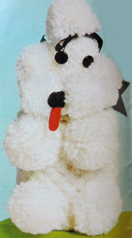 VINTAGE KNITTING PATTERN How To Make a Novelty POODLE DOG TOILET ...