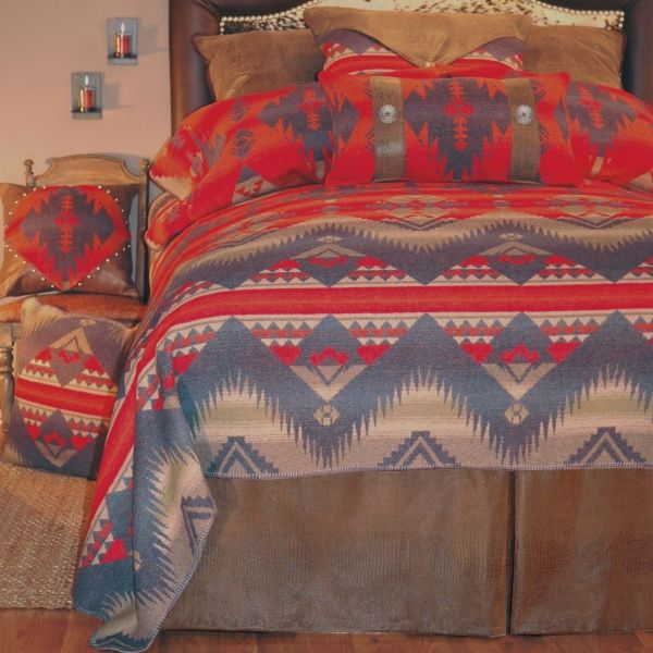 Southwest style bedding with Native American design