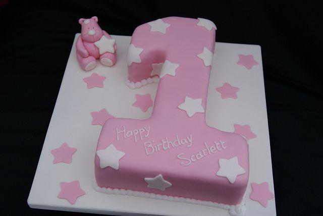 Pink Number 1 Cake Geburtstagskuchen Nummer 1 Kuchen Und