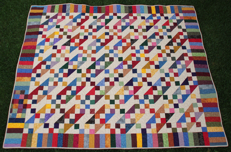 From my stash a Jacob's Ladder pattern. Followed the Missouri ... : missouri quilt company binding tutorial - Adamdwight.com