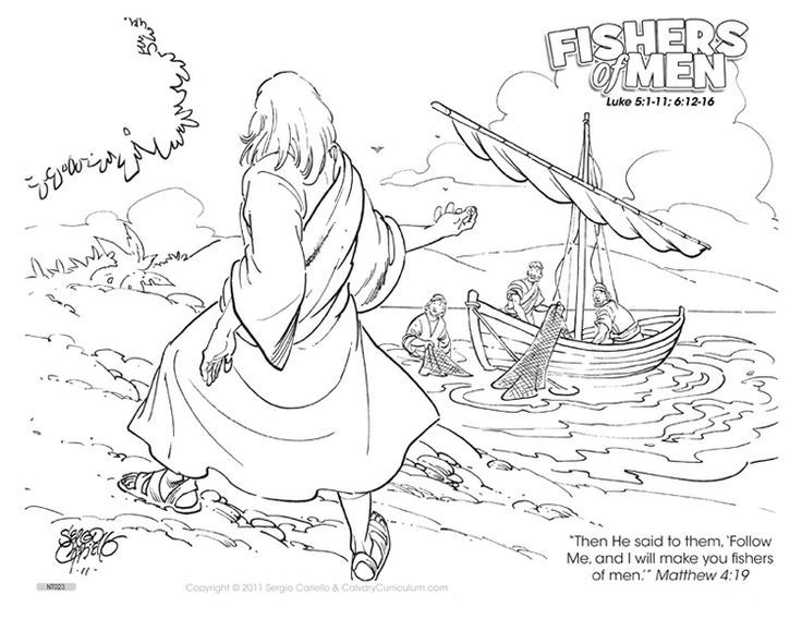 Fishers Of Men Coloring Page Google Search Coloring Pages