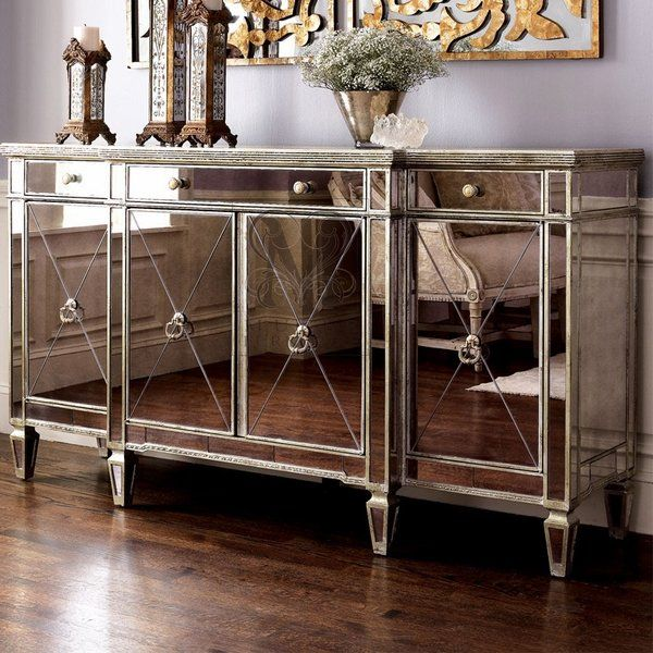Mirrored Sideboard Ideas Dining Room Buffet Table Elegant Furniture