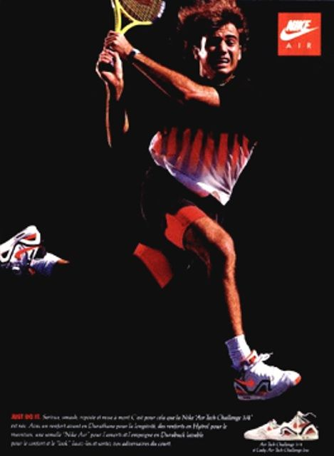 Andre Agassi in Hot Lava Nike Air Tech Challenge II #90s