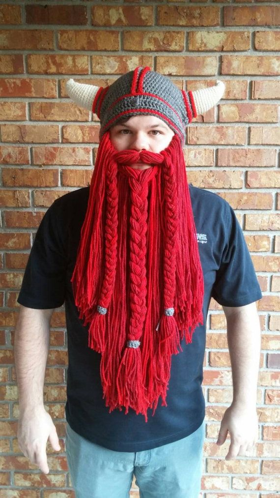 Viking beard hat with removable beard, Lord of the Rings \\ Skyrim ...