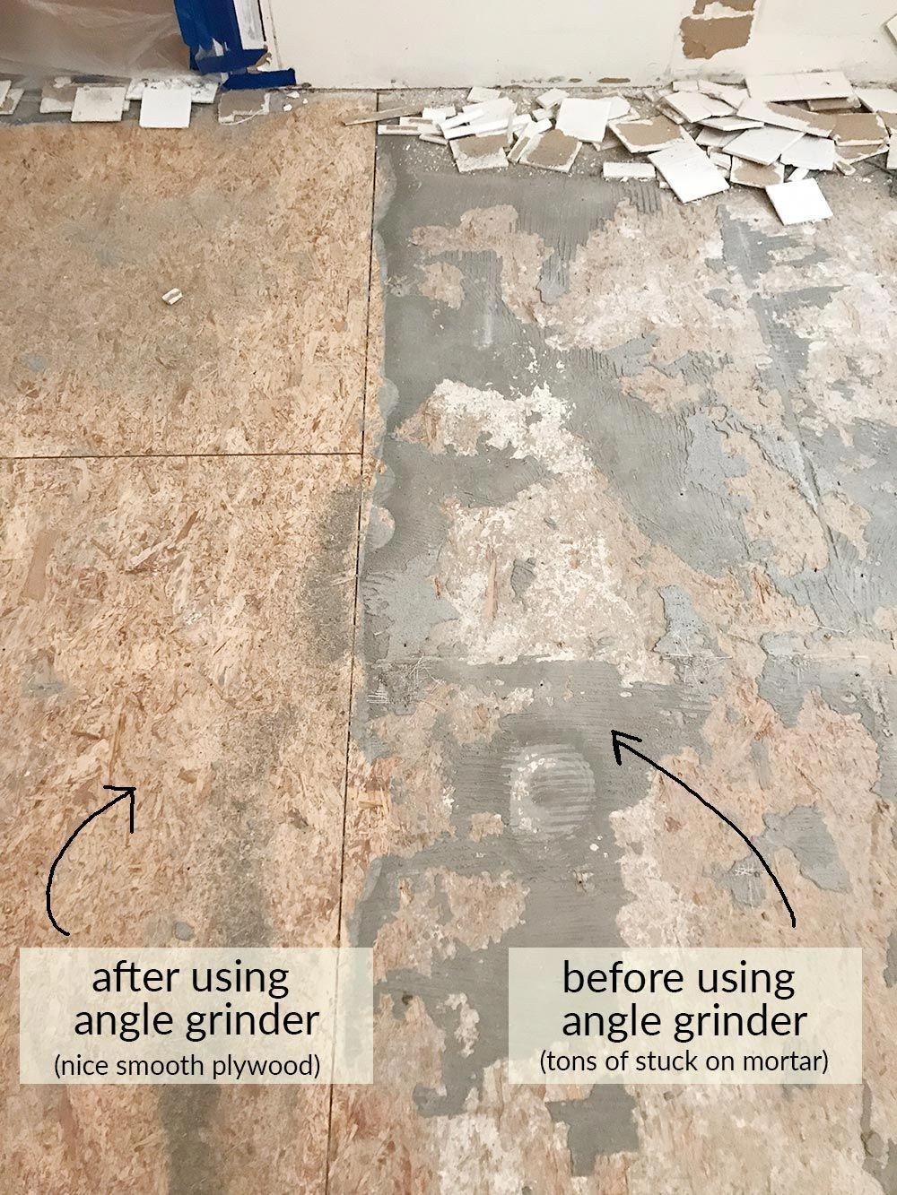 How To Remove Tile Floors Tips And Tricks For Diy Tile Removal Homerenovationtips Tile Removal