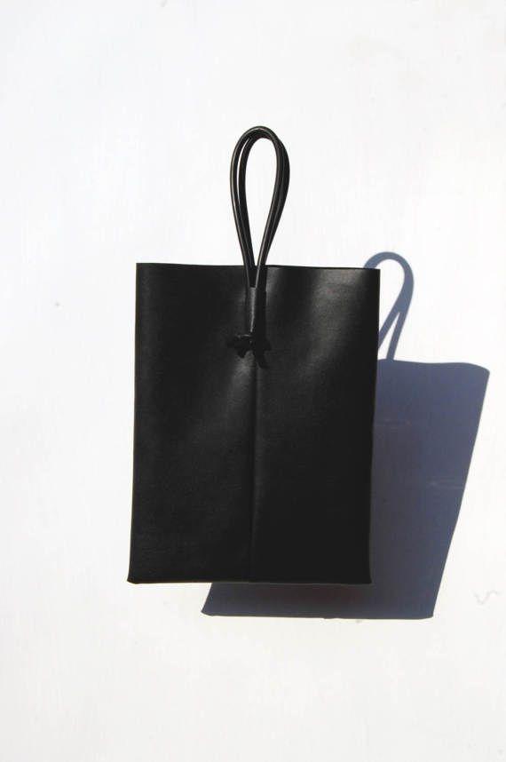 Minimal Shopper Tote Handbag Borsa Finta pelle di CoseDiMeli