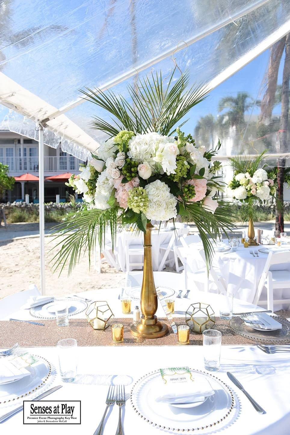 Tropical Centerpiece Wedding Venue Southernmost Beach Resort