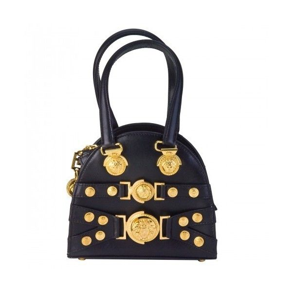 712249cdb65cd VINTAGE GIANNI VERSACE MINI BAG WITH MEDUSA MOTIFS ❤ liked on Polyvore  featuring bags