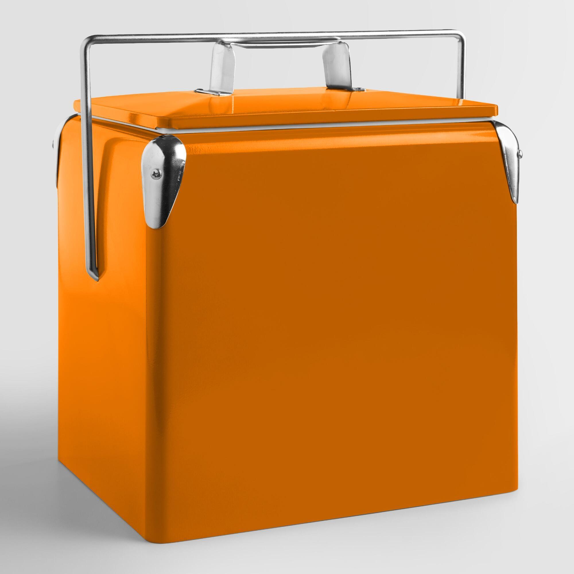Orange Retro Drink Cooler Retro cooler, Beverage cooler