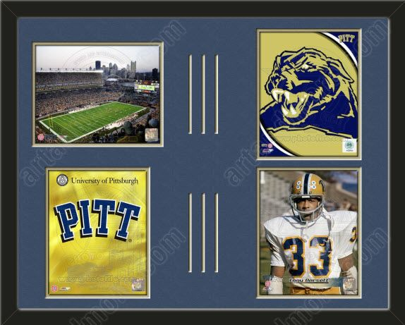 Four Framed 8 X 10 Inch University Of Pittsburgh Photos Of