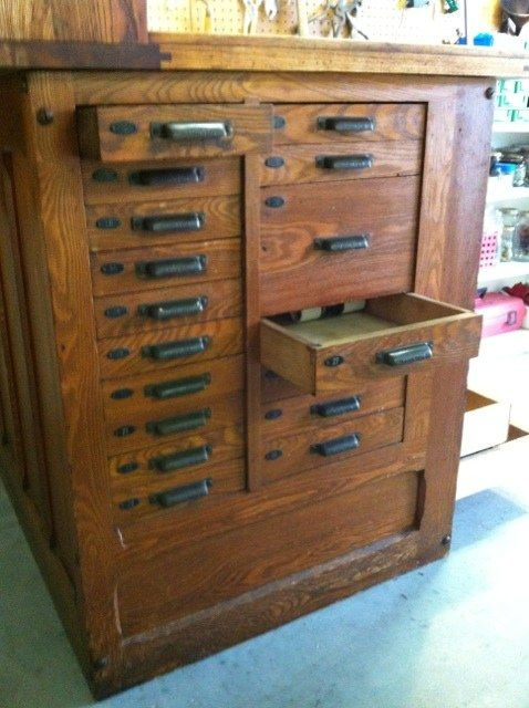 Oak Antique Hamilton Typesetter S Cabinet Salvage And