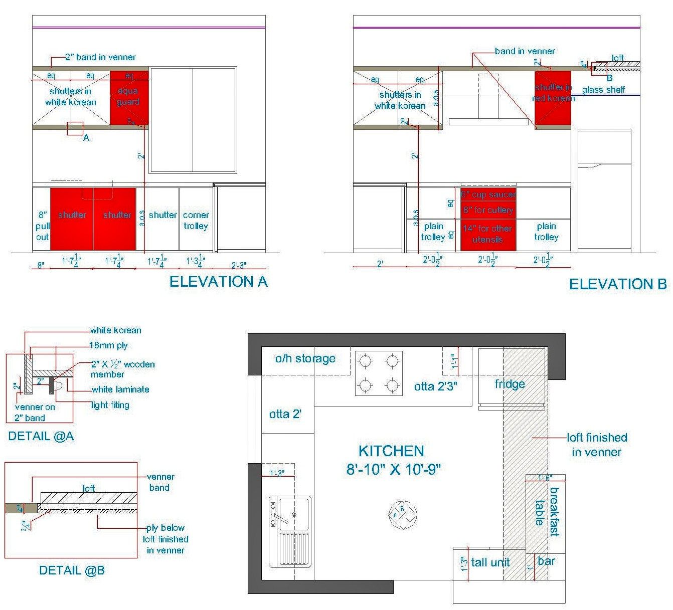 Graphic To Show Interior Plans Elevations