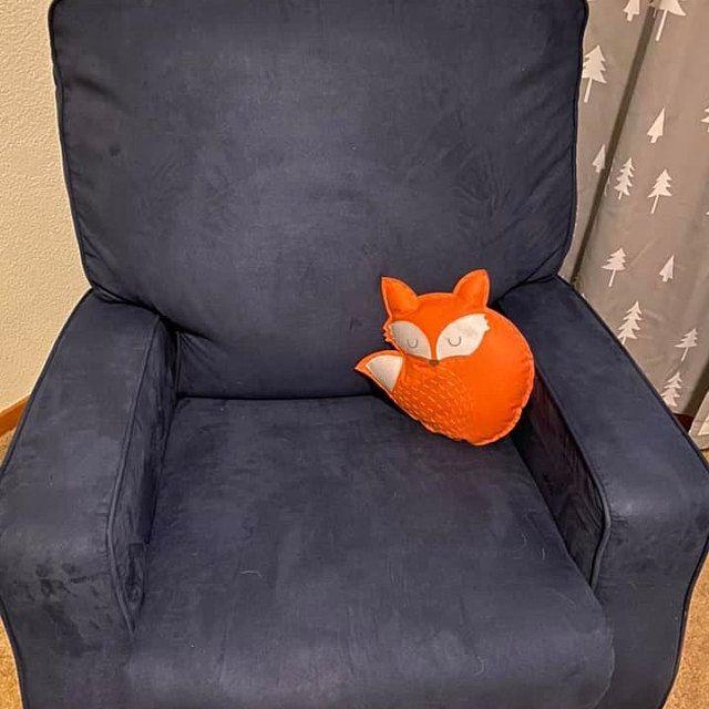 Fox pillow felt - woodland nursery decor/ plush, stuffed animal ornament/ kids room cushion/ baby gi