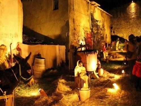 Levende Kerststal Belén Viviente In Buitrago De Lozoya Omgeving Madrid Kerst Spanje Madrid Buitrago De Lozoya Spanje Madrid Spaans Feest