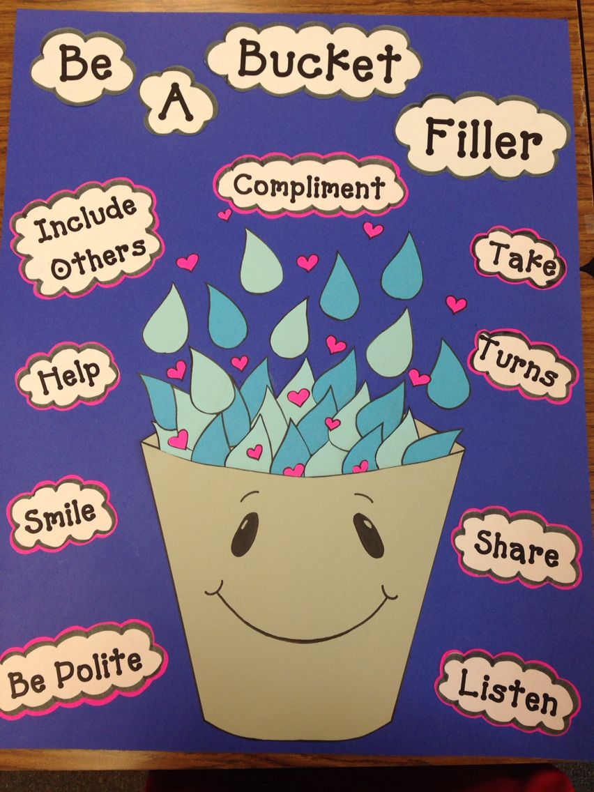 Design Classroom Posters : Bucket filler classroom poster for the book how full is