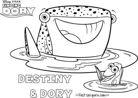 Printables Cartoon Findingdory Destiny Coloring Page For