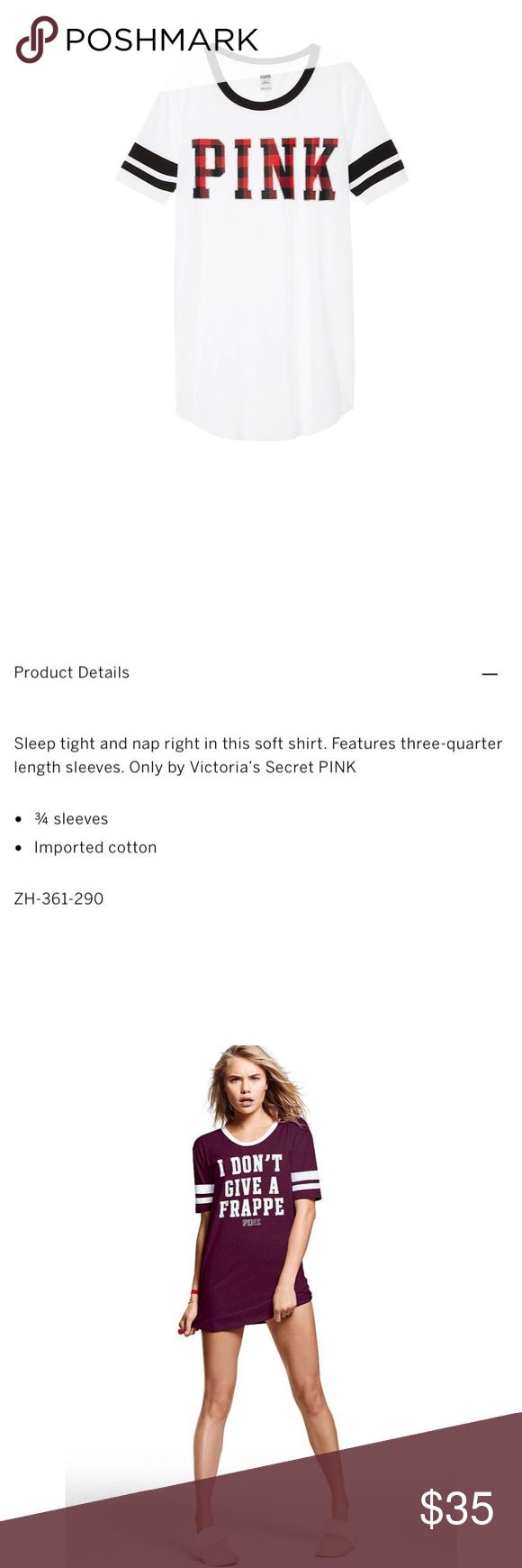 [pink vs] sleep shirt NWT Clothes design, Colorful