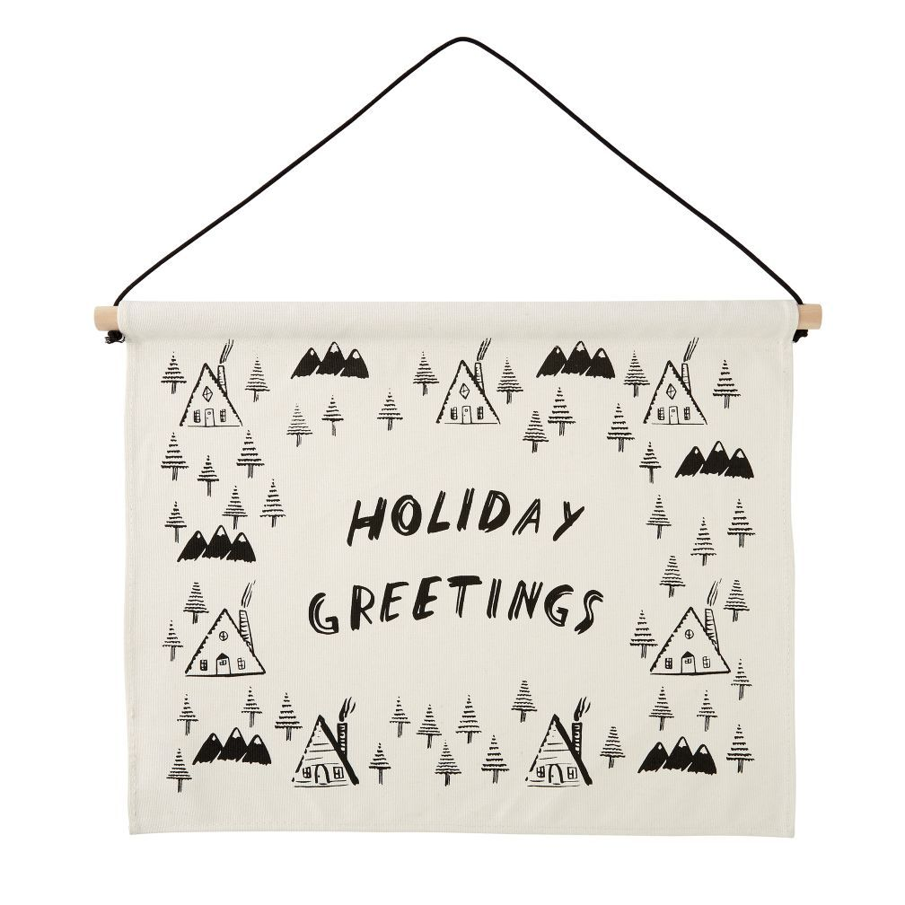 Holiday Greetings Banner The Land Of Nod Christmas Decor Ideas