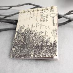 Bloc notes de noel motif sapin reliure japonaise