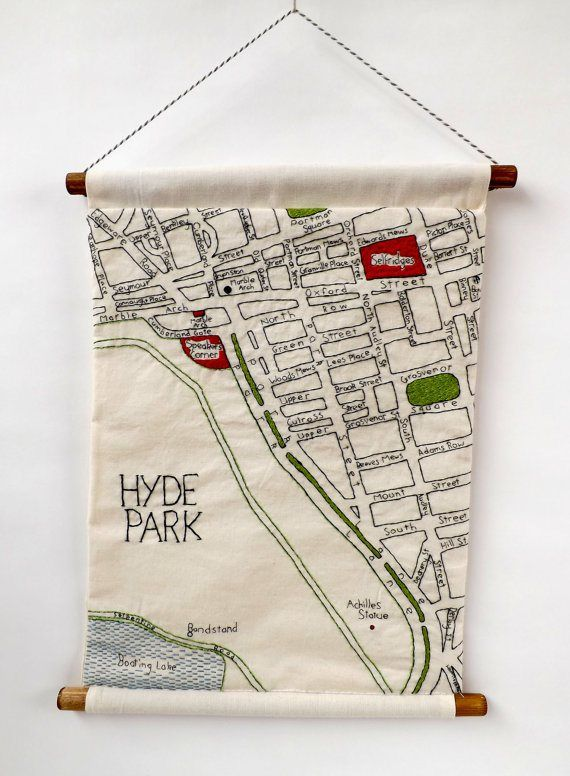 Hand Embroidered Maps of London Neighborhoods | Pinterest ...