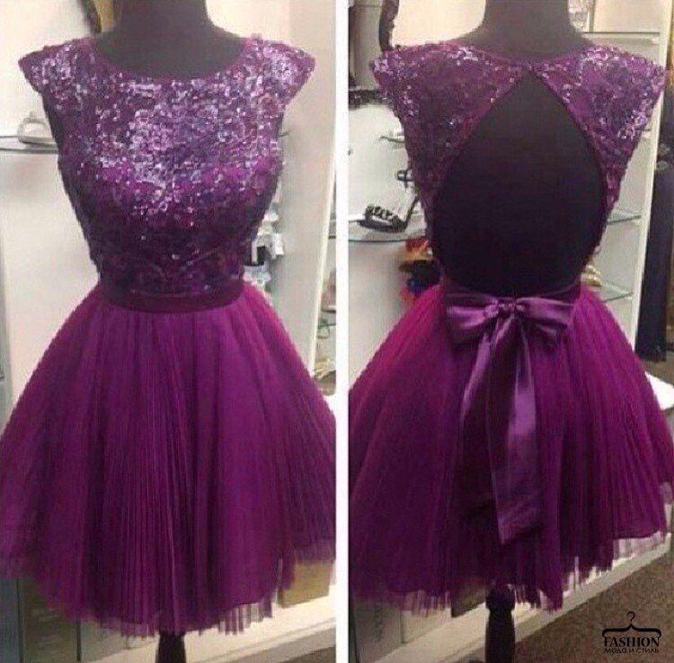 short coctail dress sexy cocktails #fashion #violet dress ...PUSH ...