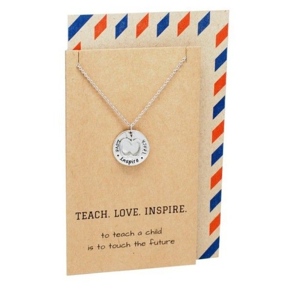 A necklace that many teachers would appreciate receiving as the school year comes to an end .