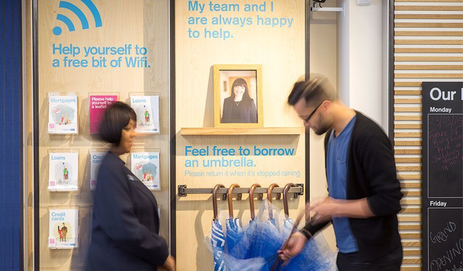 Umbrellas For Customers To Borrow At Tsb Enfield Branch Design