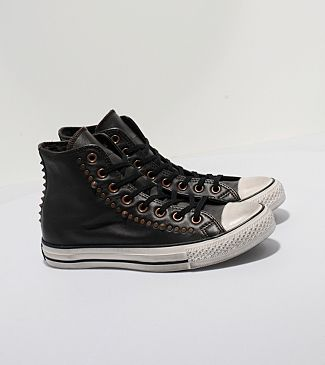 Leather Converse.