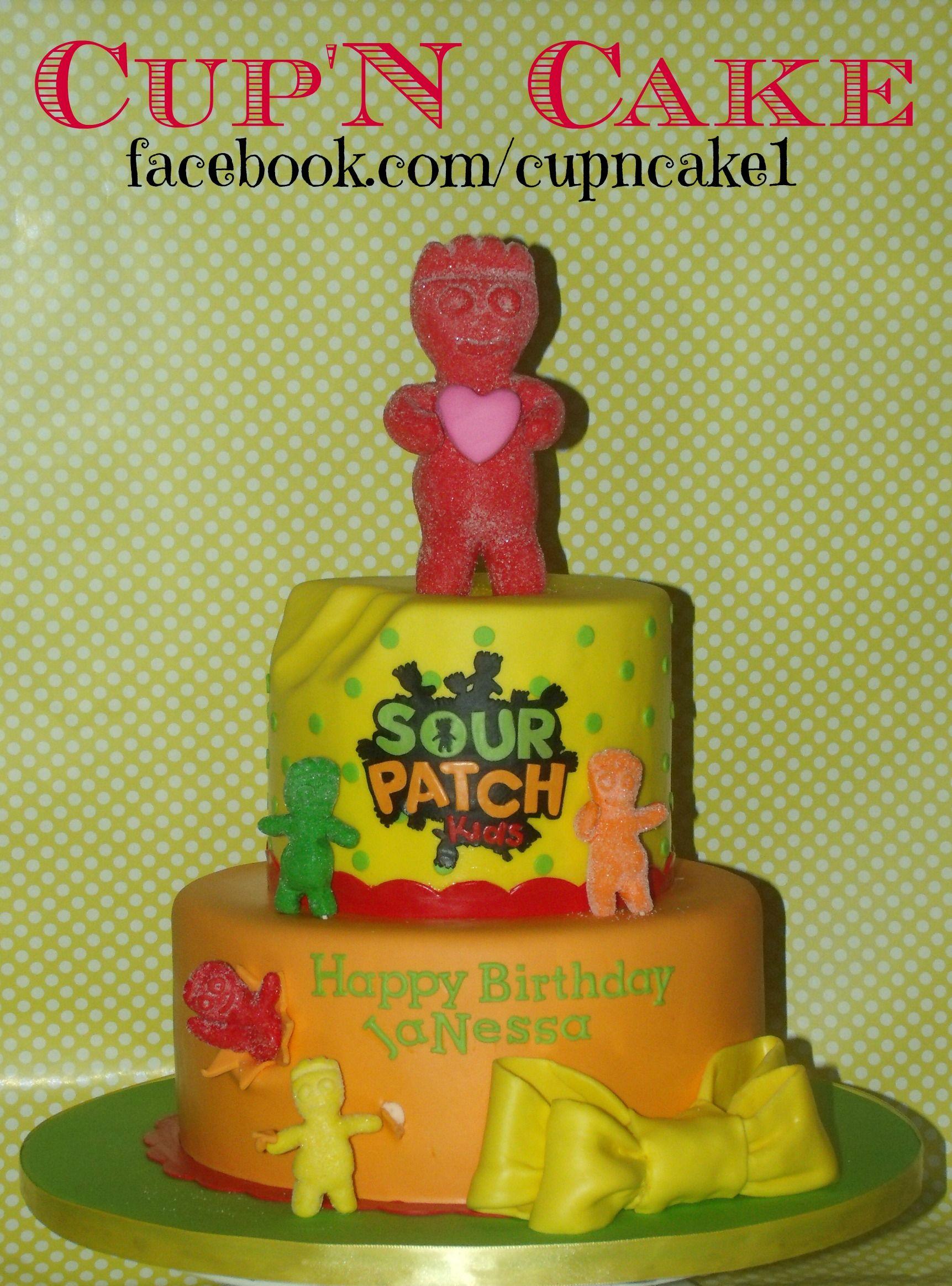 Sour patch kids cake with edible marshmellow fondant facebookcom