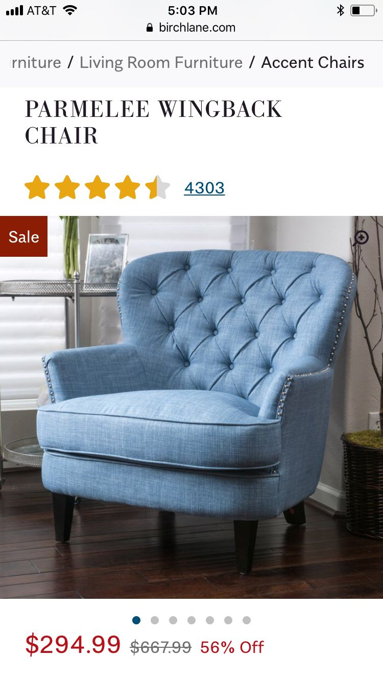 Wayfair parmalee chair  Accent chairs, Small chair for bedroom