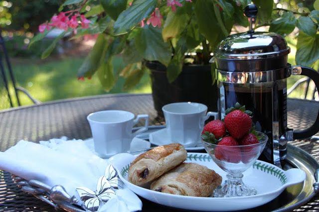 French Breakfast Al fresco...