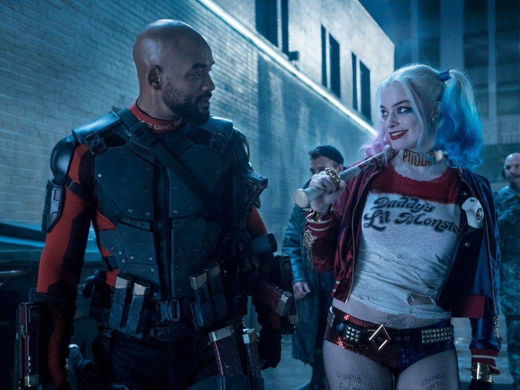Will Smith And Margot Robbie Deadshot Harley Quinn Suicide Squad