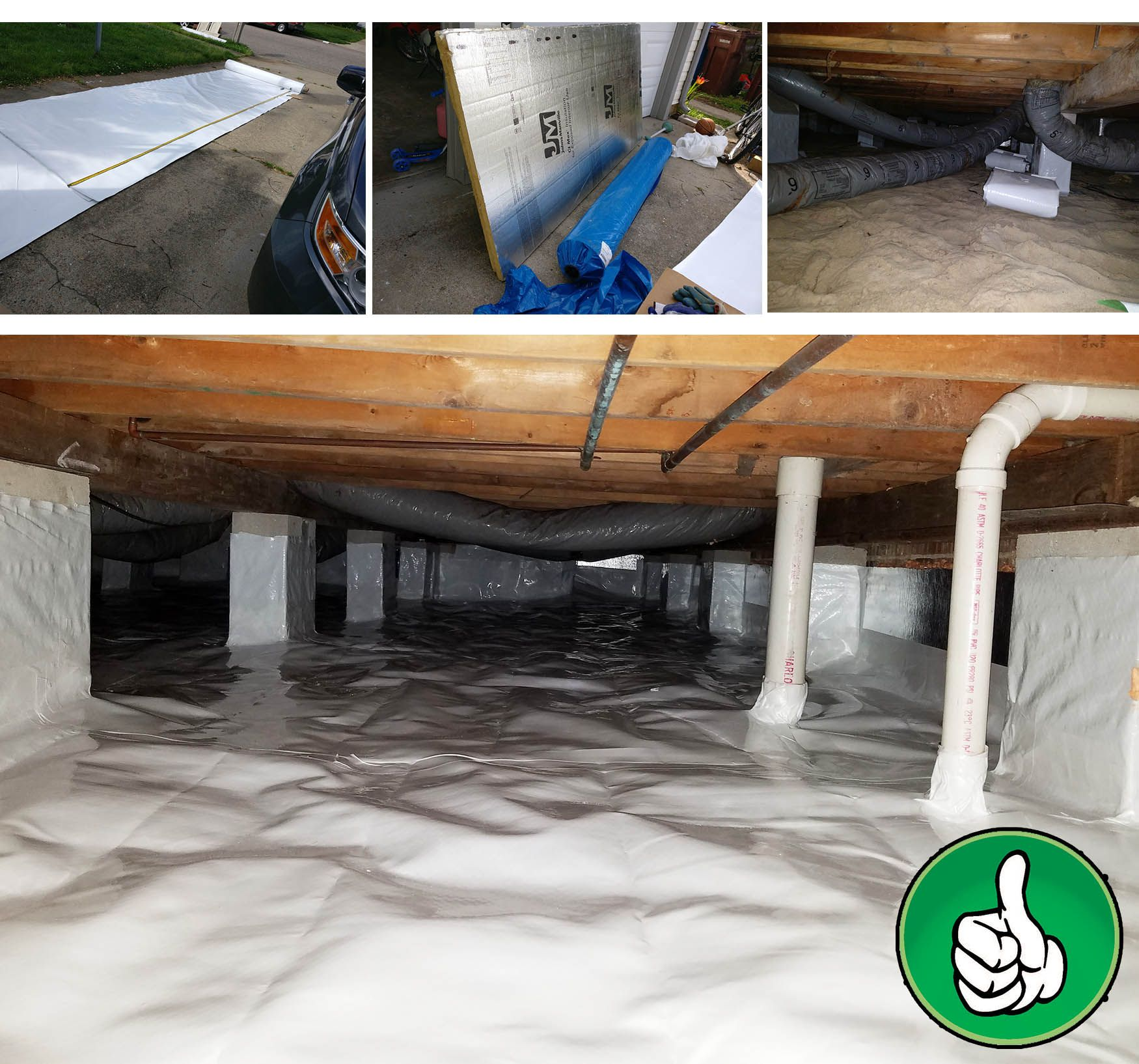 Our Insulation Process Constructor Virginia Crawlspace Houserepairs Homeimprovements Vaporbarriers Crawlspacewaterproofing Roofing N