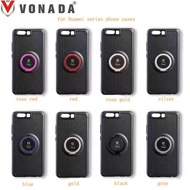VONADA Finger Ring Magnetic Holder Phone Case Cover for Huawei P8 Lite 2017  P10 Plus P10 Lite Mate 9 Lite Honor 8 Lite 6x