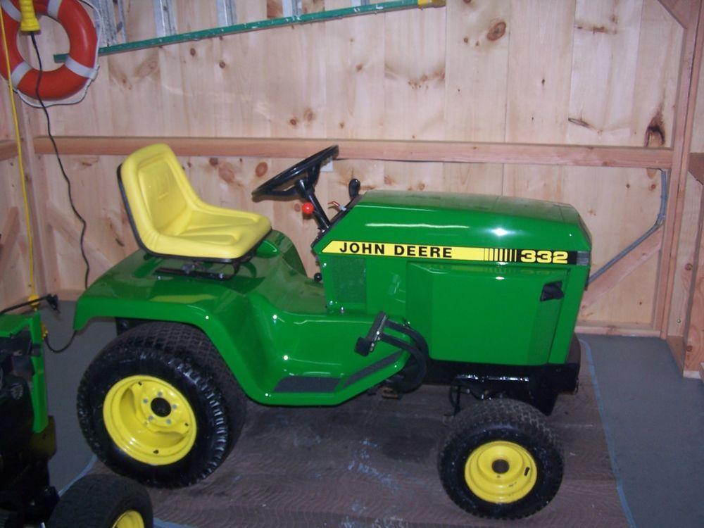 John Deere 332 >> John Deere 332 Diesel Lawn Tractor W Attachments Sweet Tractors