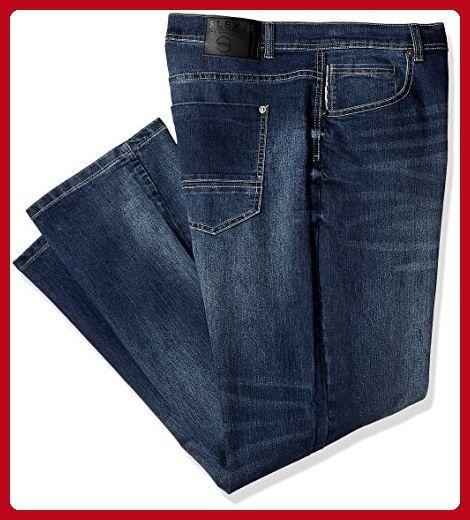 SOUTHPOLE Mens Big Tall FLEX Washed Denim Skinny Fit Jeans Dark Sand Blue