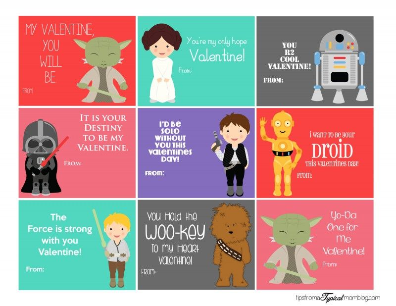 image regarding Printable Star Wars Valentine named Totally free Star Wars Printable Valentines Valentines Working day