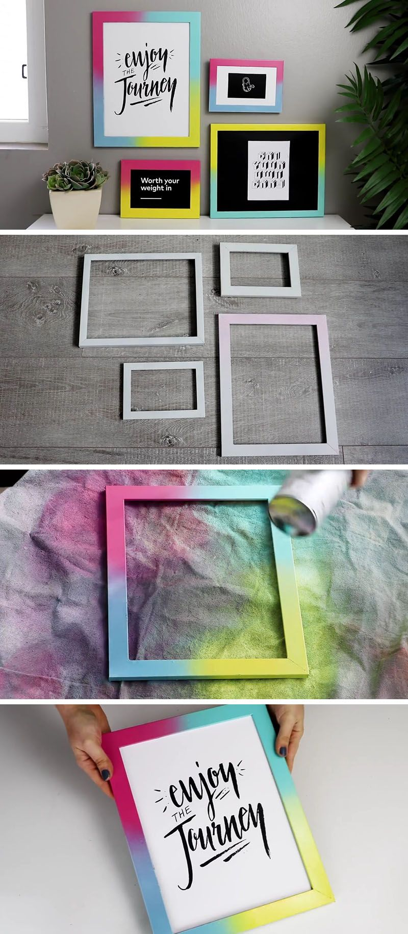 Create your own easy DIY colorful gallery