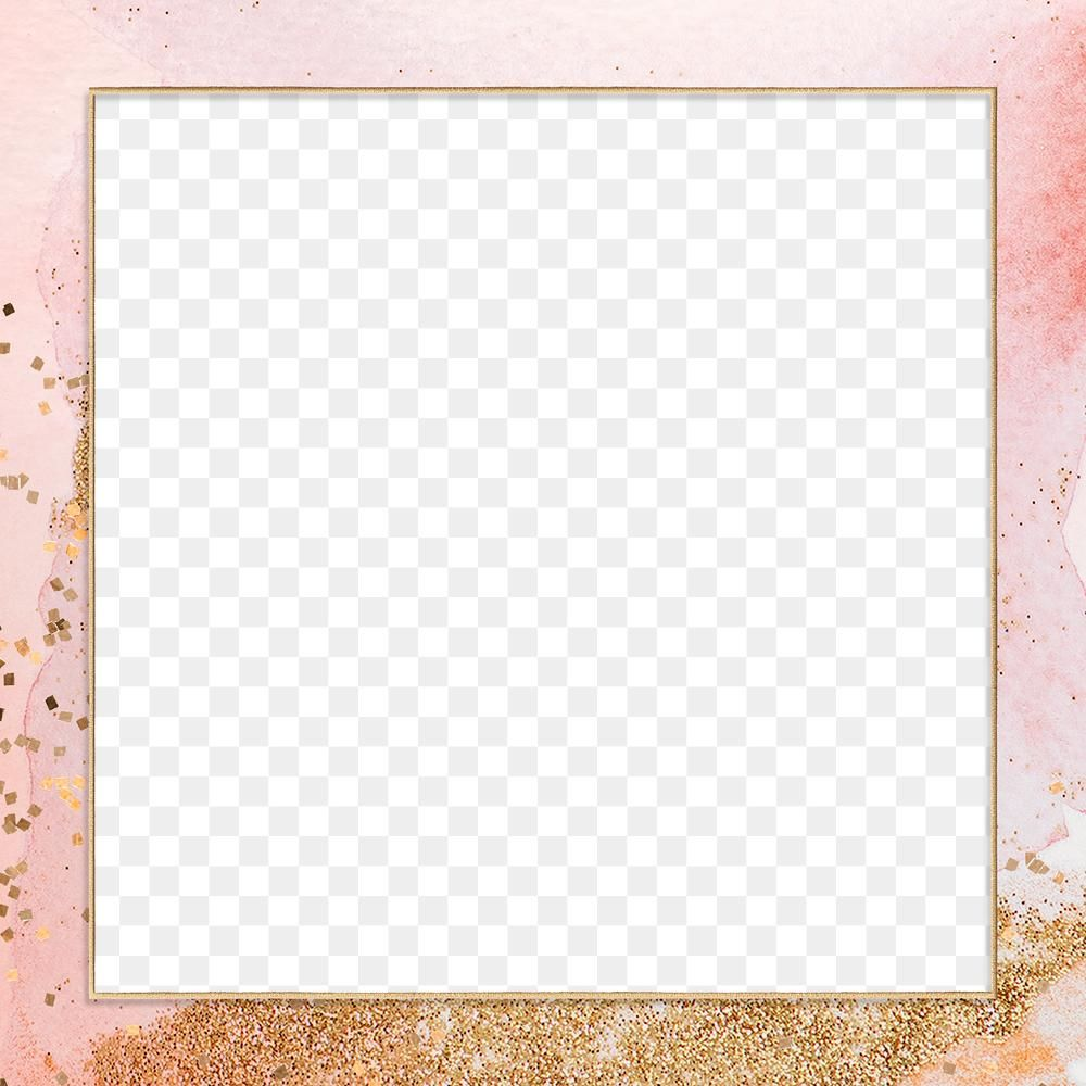Gold Square Frame On Pink Watercolor Background Design Element Free Image By Rawpixel Com Mar Background Design Watercolor Background Christmas Card Images